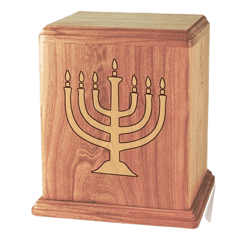 Menorah Oak Cremation Urn