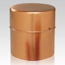 Copper Cylinder Cremation Urn