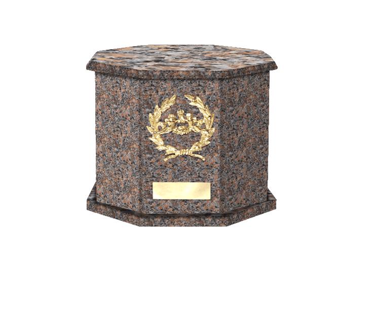 Mila Dakota Mahogany Cremation Urn
