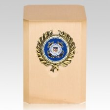 Coast Guard Wreath Military Cremation Urn
