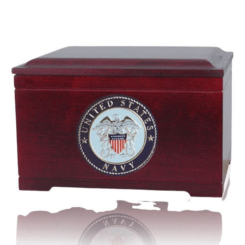 Navy Memory Chest Cremation Urn