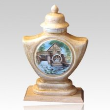 Mill Ceramic Cremation Urn