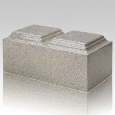 Mist Gray Granite Companion Cremation Urn