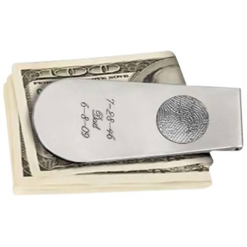 Money Clip Print Sterling Silver Keepsake
