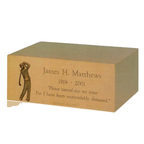 Monogram Jewel Case Cremation Urn