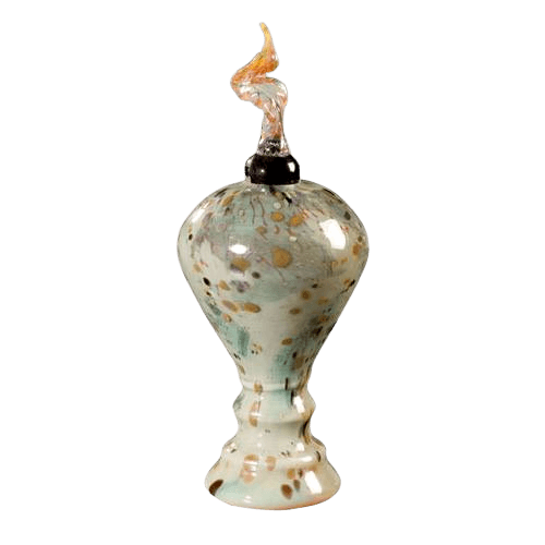 Monza White Glass Cremation Urn