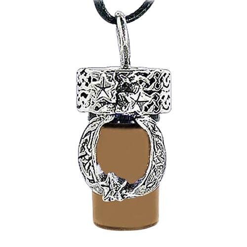 Moon Brown Cremation Urn Necklace