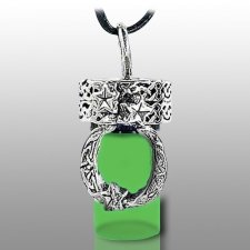 Moon Green Pet Cremation Necklace