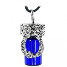 Moon Blue Cremation Urn Necklace