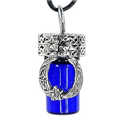 Moon Blue Cremation Urn Necklace