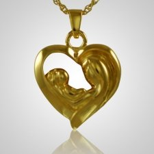Mother & Child Heart Keepsake Pendant IV