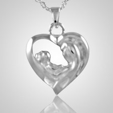 Mother & Child Heart Keepsake Pendant