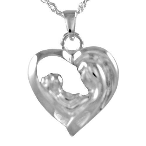 Mother & Child Heart Keepsake Pendant
