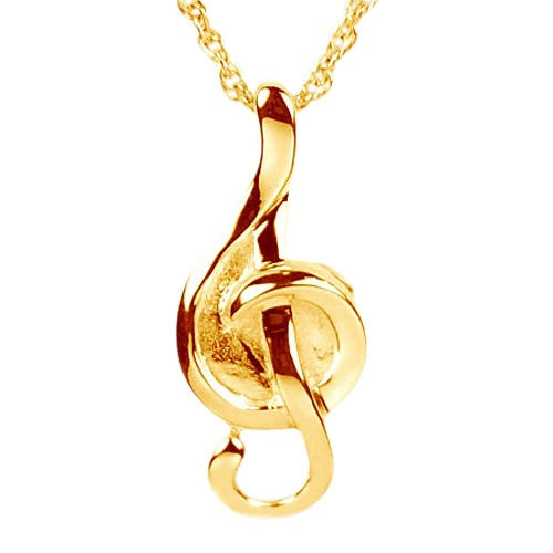 Musical Note Urn Necklace II
