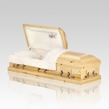 Natural Pine Wood Casket