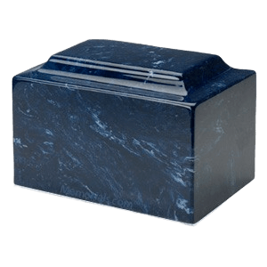 Navy Marble Cremation Urns