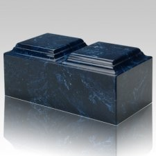 Navy Marble Companion Cremation Urn