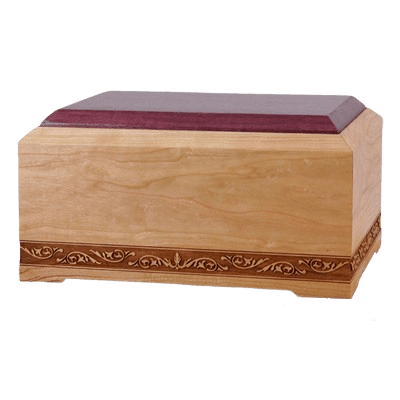 New Orleans Wood Cremation Urn