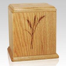Wheat Wood Cremation Urn