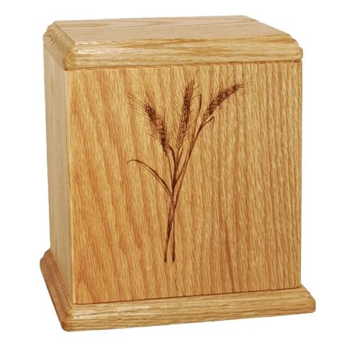 Wheat Wood Cremation Urn