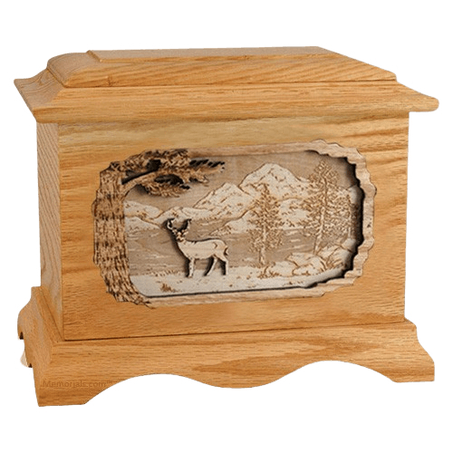 Deer Oak Cremation Urn