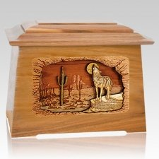 Desert Moon Oak Aristocrat Cremation Urn