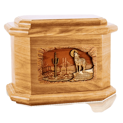 Desert Moon Oak Octagon Cremation Urn