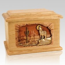 Desert Moon Oak Memory Chest Cremation Urn