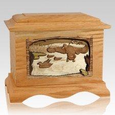 Marshland Melody Oak Cremation Urn