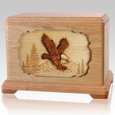 Eagle Oak Cremation Urn For Two