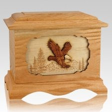 Eagle Oak Cremation Urn
