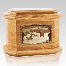 Marshland Melody Oak Octagon Cremation Urn