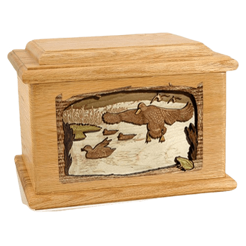 Marshland Melody Oak Memory Chest Cremation Urn