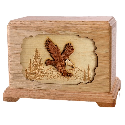Eagle Oak Hampton Cremation Urn
