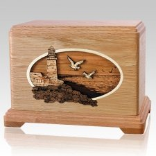 Sea Coast Oak Hampton Cremation Urn