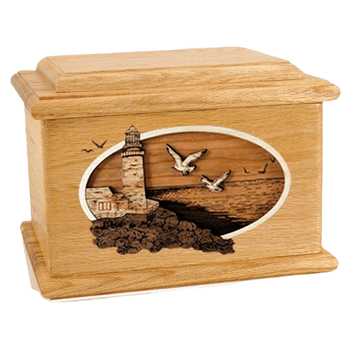 Sea Coast Oak Memory Chest Cremation Urn