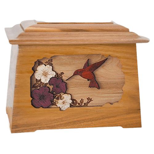 Hummingbird Oak Aristocrat Cremation Urn