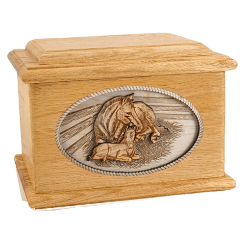 Daddys Love Oak Memory Chest Cremation Urn