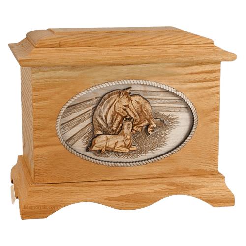 Daddys Love Oak Cremation Urn