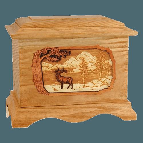 Elk Oak Cremation Urn