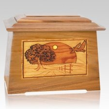 Geese Oak Aristocrat Cremation Urn