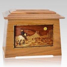 Horse Moon Oak Aristocrat Cremation Urn