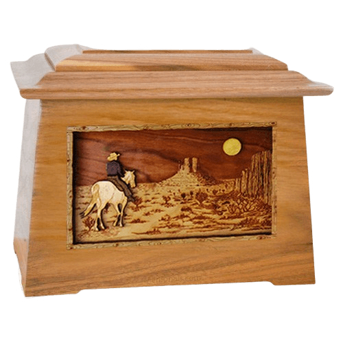 Horse Moon Oak Aristocrat Cremation Urn