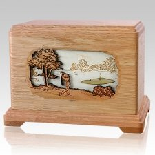 Golf Oak Hampton Cremation Urn