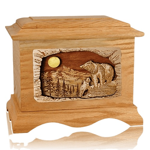 Country Haven Oak Cremation Urn