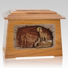 Moonlight Serenade Oak Aristocrat Cremation Urn