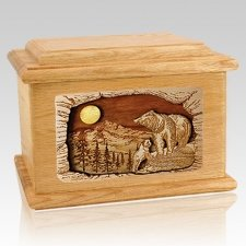 Country Haven Oak Memory Chest Cremation Urn