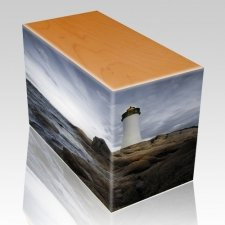 Lighthouse Oak Child Cremation Urn III