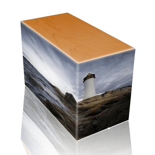 Lighthouse Oak Child Cremation Urn II