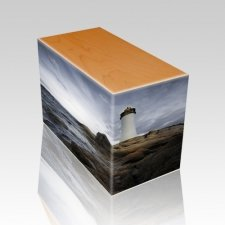 Lighthouse Oak Child Cremation Urn